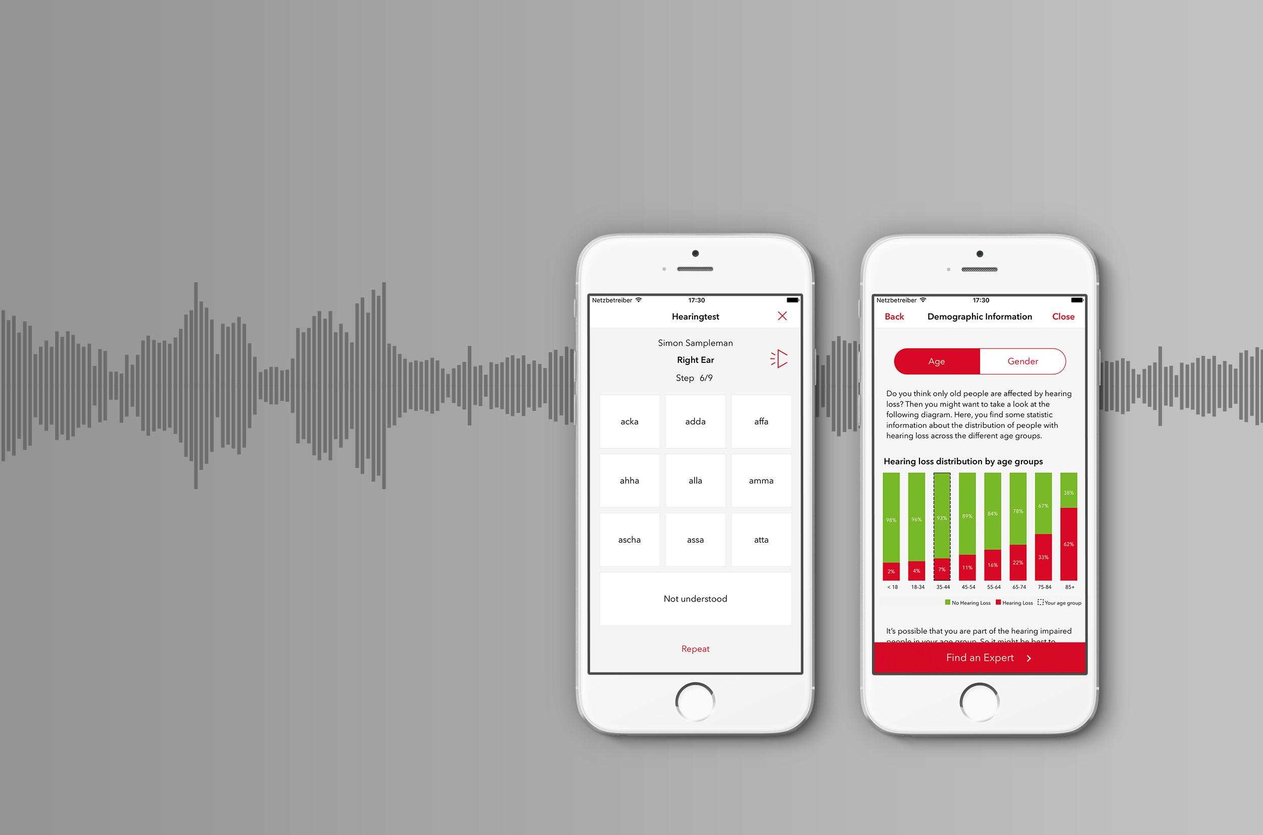 Signia Hearing Test App für Android und iOS