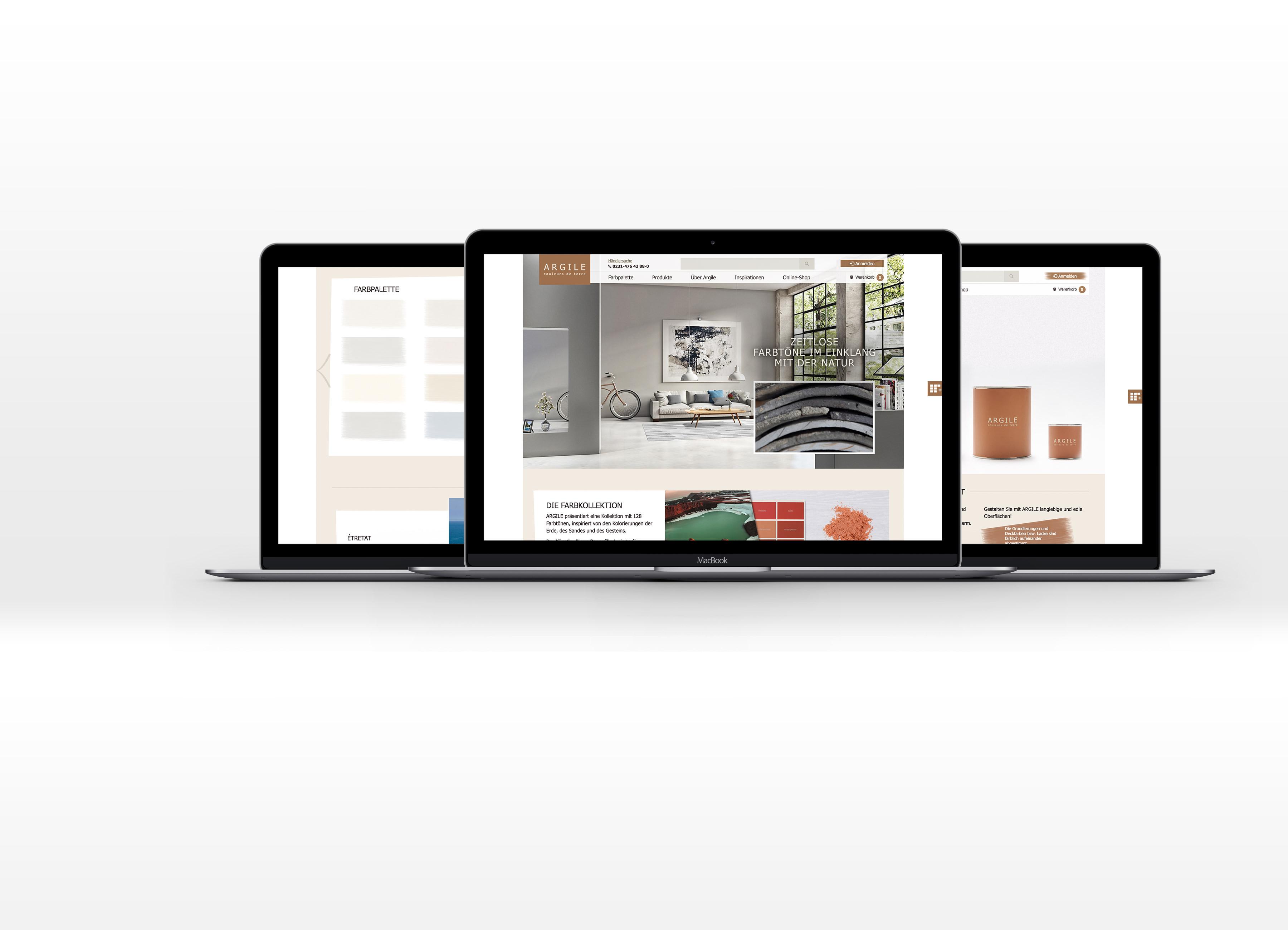 Argile Magento Online Shop Entwicklung