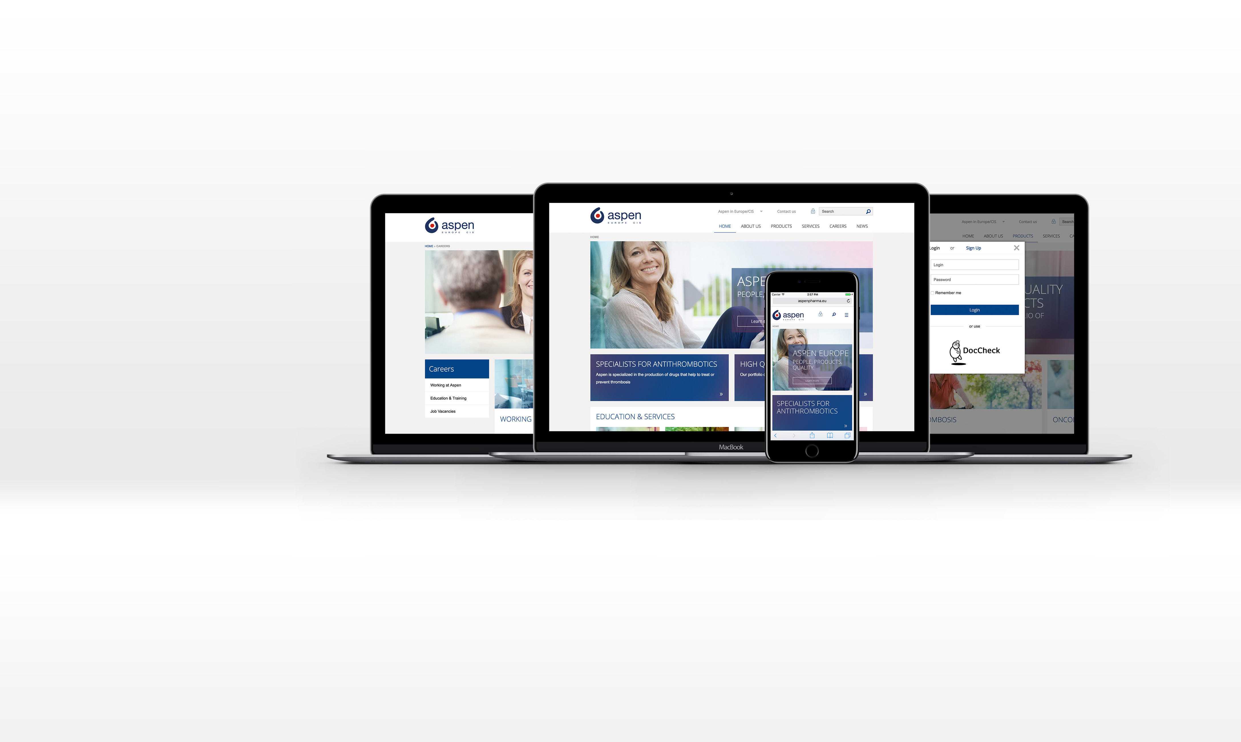Aspen Pharma Wordpress Entwicklung